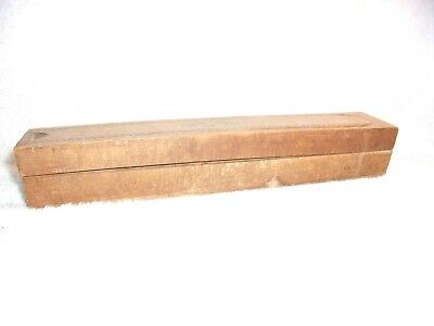 "Vintage wooden 2 tier pencil box 9.5"" L x 1.5"" W antique with lock but no key"