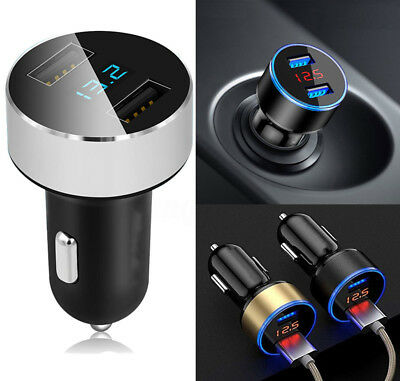 3.1A/5V Dual USB Port Car Charger Quick Charge Adapter LED for LG iPhone Samsung