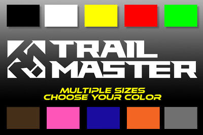 SELECT SIZE TRAIL MASTER LOGO DECAL Jeep Toyota Bumper Wheels Car Truck 4X4