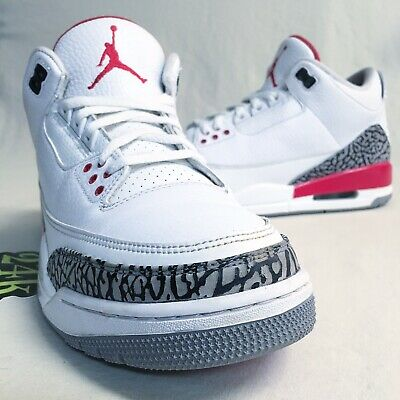 size 40 56265 55dc1 Air Jordan Retro 3 Katrina Sz 9.5 Hall Of Fame Black White Cement  88 Blue
