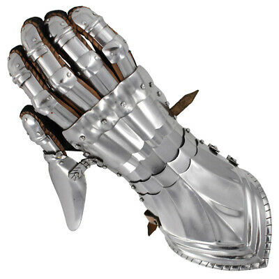 Armored Medieval Polished Knights Renaissance Templar Armored Gauntlets