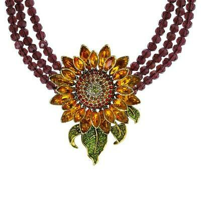 """New $250 Heidi Daus """"Divine Miss Daisy"""" Crystal-Accented Drop Necklace"""