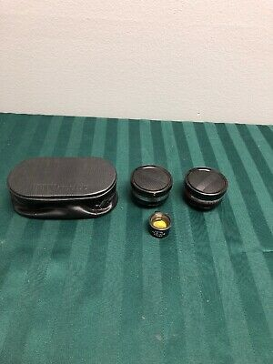 PETRI AUXILIARY CAMERA LENS AUX TELEPHOTO & WIDE-ANGEL 7 1:2.8 45mm WITH CASE