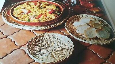 Vintage Weaving withvRaffia Macrame Pattern 3 x Basket  Platters Reproduced