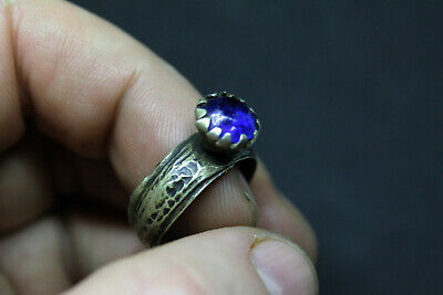 Antique Post Medieval silvered  ring wearable size P