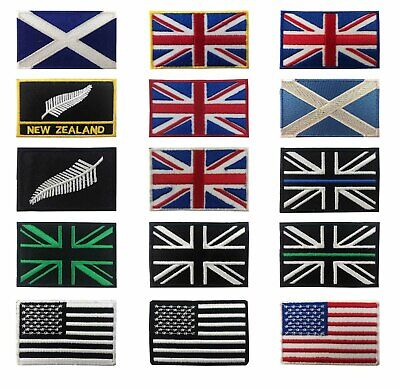 Union Jack Flag Iron on Sew on Embroidered Patch
