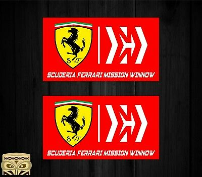 Sticker Aufkleber Autocollant Adesivi Decal  X2 Ferrari Mission Winnow Laminated