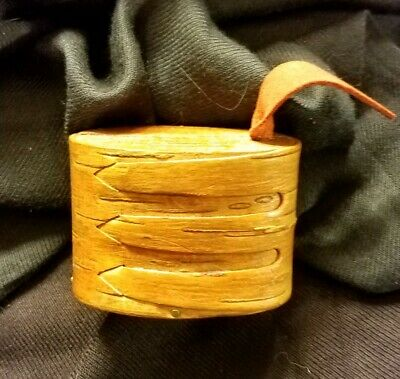 Birch Bark Box /Purchased With Native American Artifacts/Oblong Wood Lid