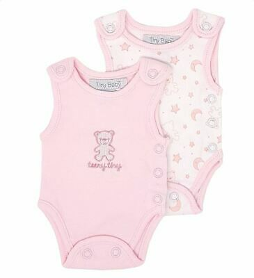 Premature Early Tiny Baby Easy Access Incubator Neonatal Vests Twin Pack