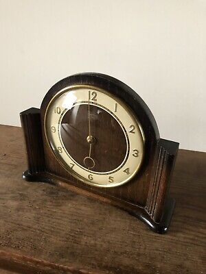 Vintage Mantle Clock. Art Deco 8day With Metamec Movement C1940s