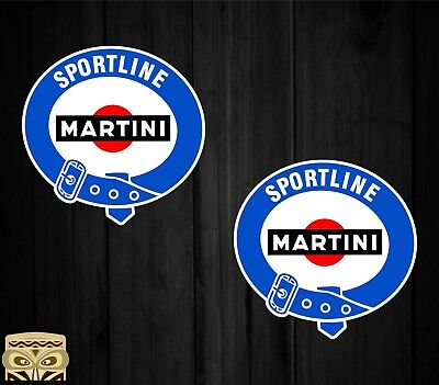 Sticker Aufkleber Autocollant Adesivi Decal X2 Martini Sportline  Laminated