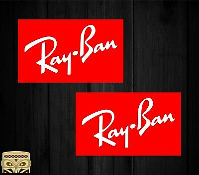 Pegatina Sticker Aufkleber Autocollant Adesivi Decal X2 Ray-Ban Rayban Laminated