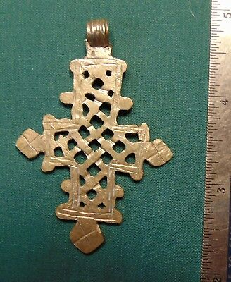 Artisan hand crafted antique   silver cross