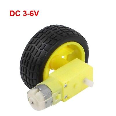 Smart Car Robot Plastic Tire Wheel DC 3-6v Gear Motor for Arduino Robot New UK *