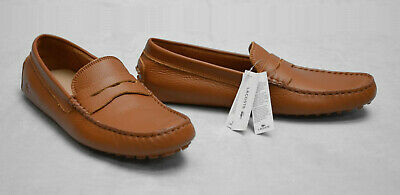 2dc9ec475 C0 NEW LACOSTE Mens Concours Tan Leather Driving Penny Loafers Shoes Size  US 9