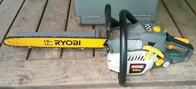 RYOBI 18 in. 42cc 2-Cycle Gas Chainsaw With Case RY10512 Runs Excellent