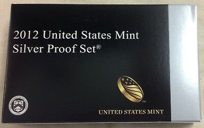 2012 US MINT SILVER PROOF SET - Complete w/ Original Box and COA