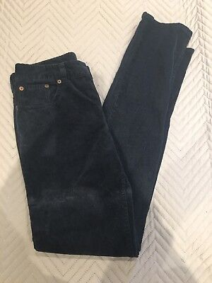 POLO RALPH LAUREN Age 16 Girls Dark Navy Corduroy Trousers Jeans Charcoal Teens