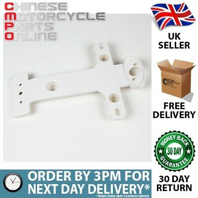 White Number Plate / License Bracket (Rear) Front Part W002 (NPLBR023)