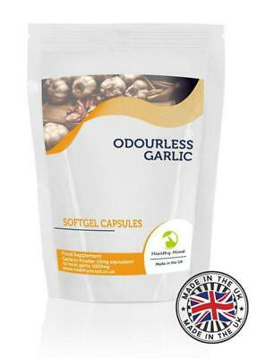 Odourless Garlic 1000mg Oil Extract 90 Capsules Pills Supplements