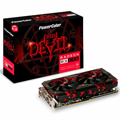 PowerColor AMD Radeon RX 580 8GB DDR5 RED DEVIL Graphics Card GPU