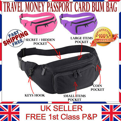 LTG PRO® Bum Bag Waist Purse Pouch Hip Fanny Pack Sports Holiday Travel Ext Belt