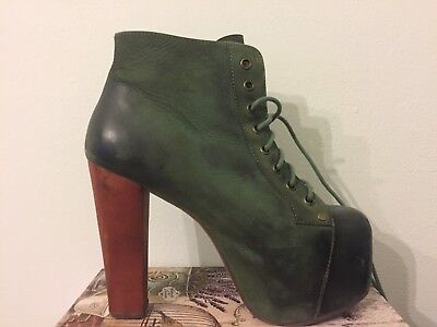 more photos c07ab 287f8 SCARPE DONNA TRONCHETTO JEFFREY CAMPBELL LITA in pelle Verdi
