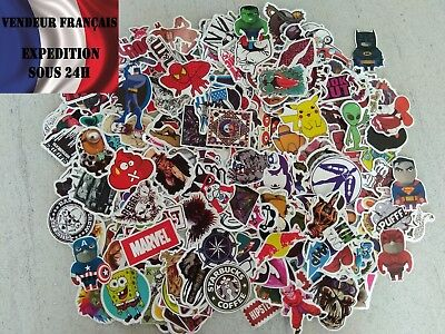 Lot de stickers / autocollants tous différents!