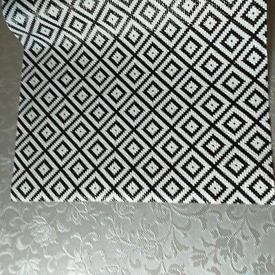Printed black& White Anti Slip Drawer Liner Cut to Fit mat Place mat Non Slip