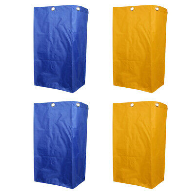 4PCS Janitorial Clean Cart Waterproof for Janitorial Clean Cart Yellow&Blue
