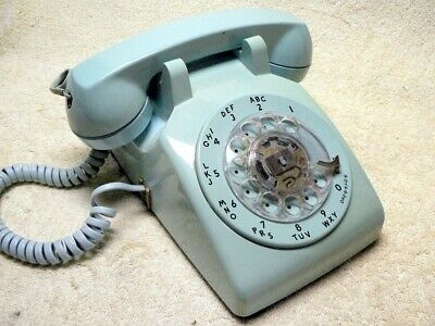 Vintage Western Electric Rotary DIAL Desk Aqua/Blue Bell System Telephone Phone