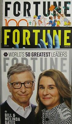 4 2019 Fortune Magazines Mar - Jun Includes The Fortune 500 Companies Issue