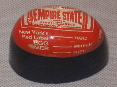 Vintage NY New York Empire State Dept. of Agriculture Lucite Acrylic Egg Timer