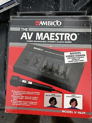 New Ambico Av Maestro V-0629 Video Enhancer/stereo Audio Mixer Boosts Video Sign Buy One Get One Free Video Production & Editing