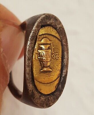 Roman Ancient silver & gold ring
