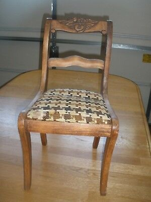 Antique Curved Doll / Child's PADDED Chair FARMHOUSE DECOR