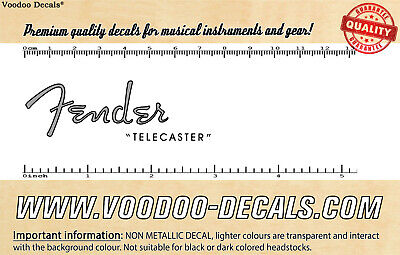 Fender Telecaster 1952 (Grey Logo) headstock waterslide decal
