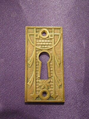 Vintage Brass Decorative Cabinet Door Drawer Keyhole Cover Plate