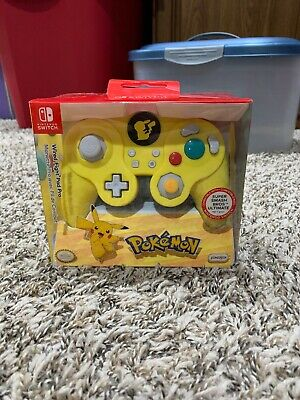 Nintendo Switch Pokemon Pikachu GameCube Style Wired Fight Pad Pro Controller...