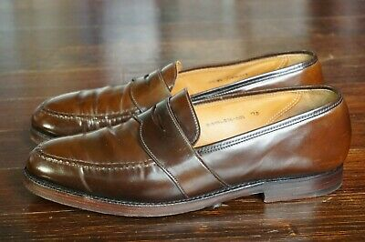 0be72099007 Crockett   Jones 9 D Uk 8 Brown Shell Cordovan Penny Marlow Loafer Boston