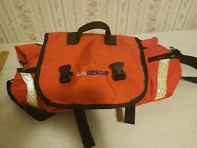 L.A. RESCUE Medic Trauma Attack Pack Bag Orange Reflective LA Rescue