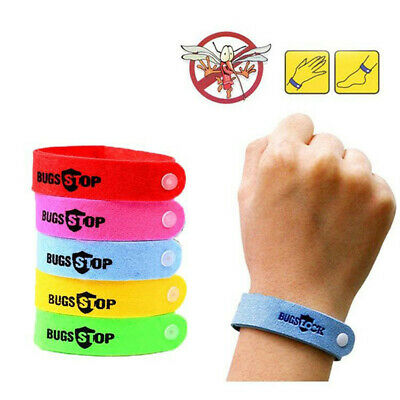 1/10Pcs Bracelet Anti Mosquito Mozzie Insect Bugs Repellent Repeller Wrist Band