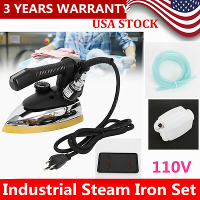 110V!! Industrial Gravity Steam Iron Industrial electric iron1000W+water bottle