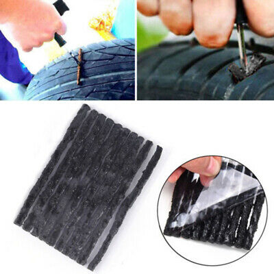 Car Bike Tyre Repair Tubeless Seal Strips Plugs For Tire Puncture Recovery Kit ~