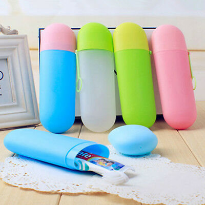 1x Portable Travel Hiking Camping Toothbrush Protect Holder Case Box Tube Cover