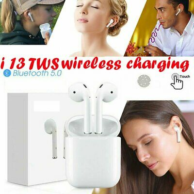 i13 TWS Bluetooth 5.0 Earbuds Earphone TOUCH CONTROL Headset  WIRELESS CHARGING