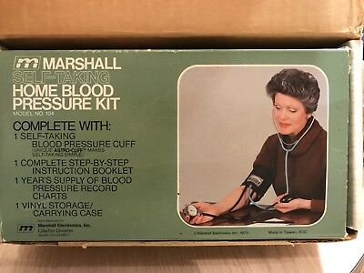 HOME BLOOD PRESSURE KIT SELF-TAKING BY MARSHALL - instructions written on to exp