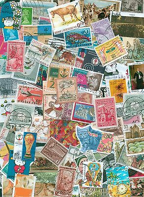 World, Collection lot of 100 all different worldwide stamps, timbres