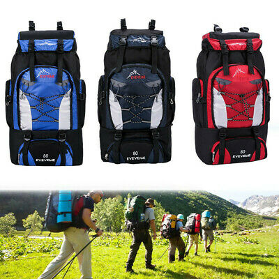 Extra Large 80 L Travel Backpack Hiking/Camping Rucksack Luggage Bag