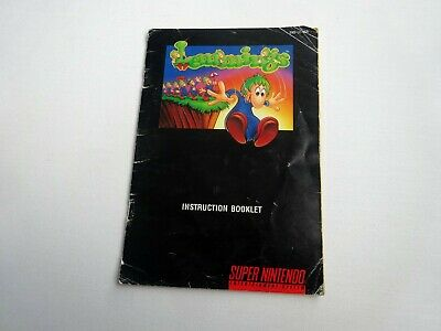 SNES Super Nintendo Lemmings Manual Only No Game